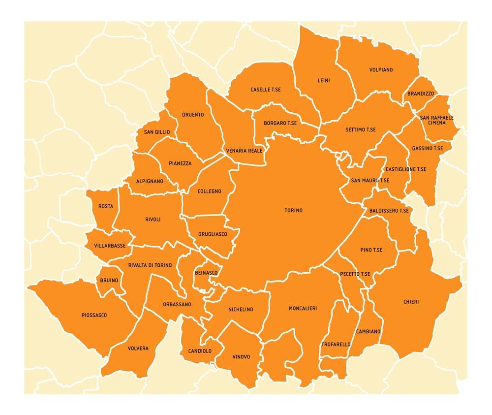 Mappa 38 Comuni Metropolitani